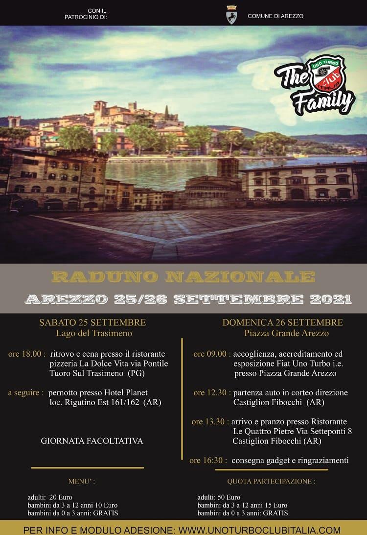 Raduno Nazionale 2021: Arezzo e lago Trasimeno